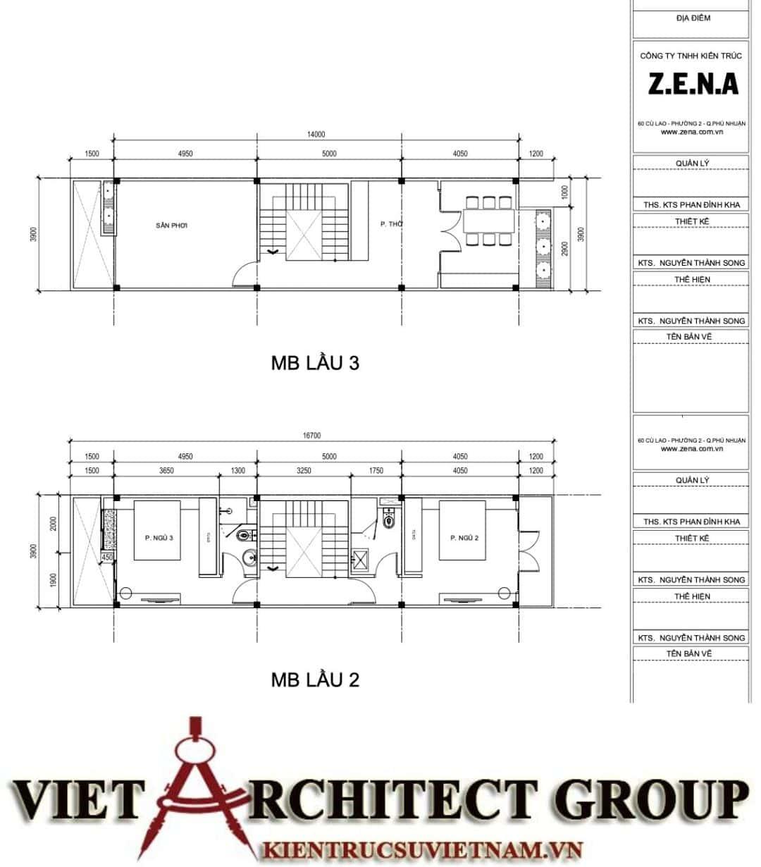 3 57 - Công trình nhà ở 5 tầng mặt tiền 4m chị Trâm - TPHCM