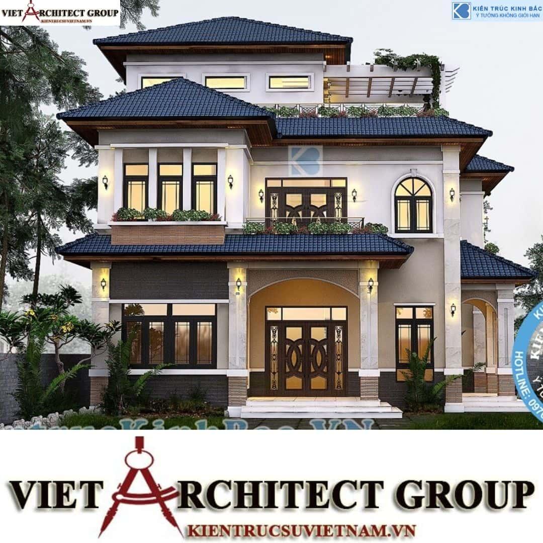 4 14 - Công trình thiết kế biệt thự tân cổ điển 3 tầng tại Hà Nội