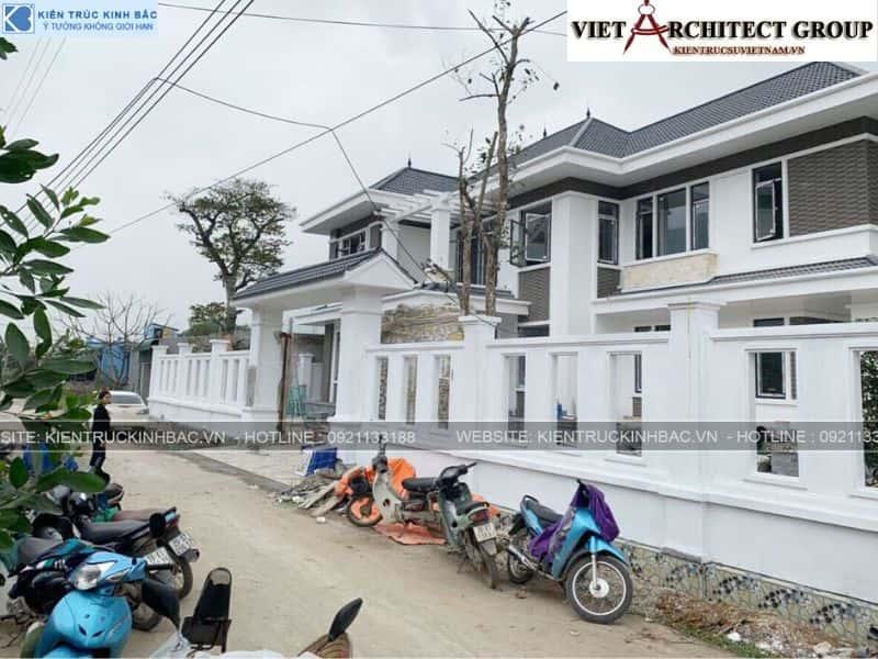 4 15 - Công trình thiết kế biệt thự 2 tầng mái thái anh Cảnh - Hoà Bình
