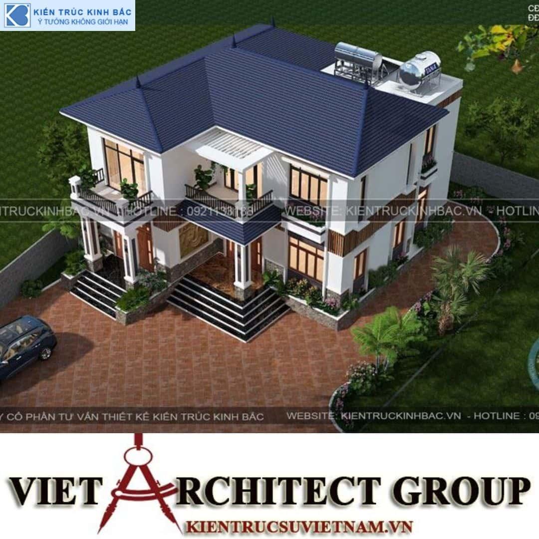 4 16 - Công trình Thiết kế biệt thự 2 tầng mái thái anh Vinh - Hải Dương
