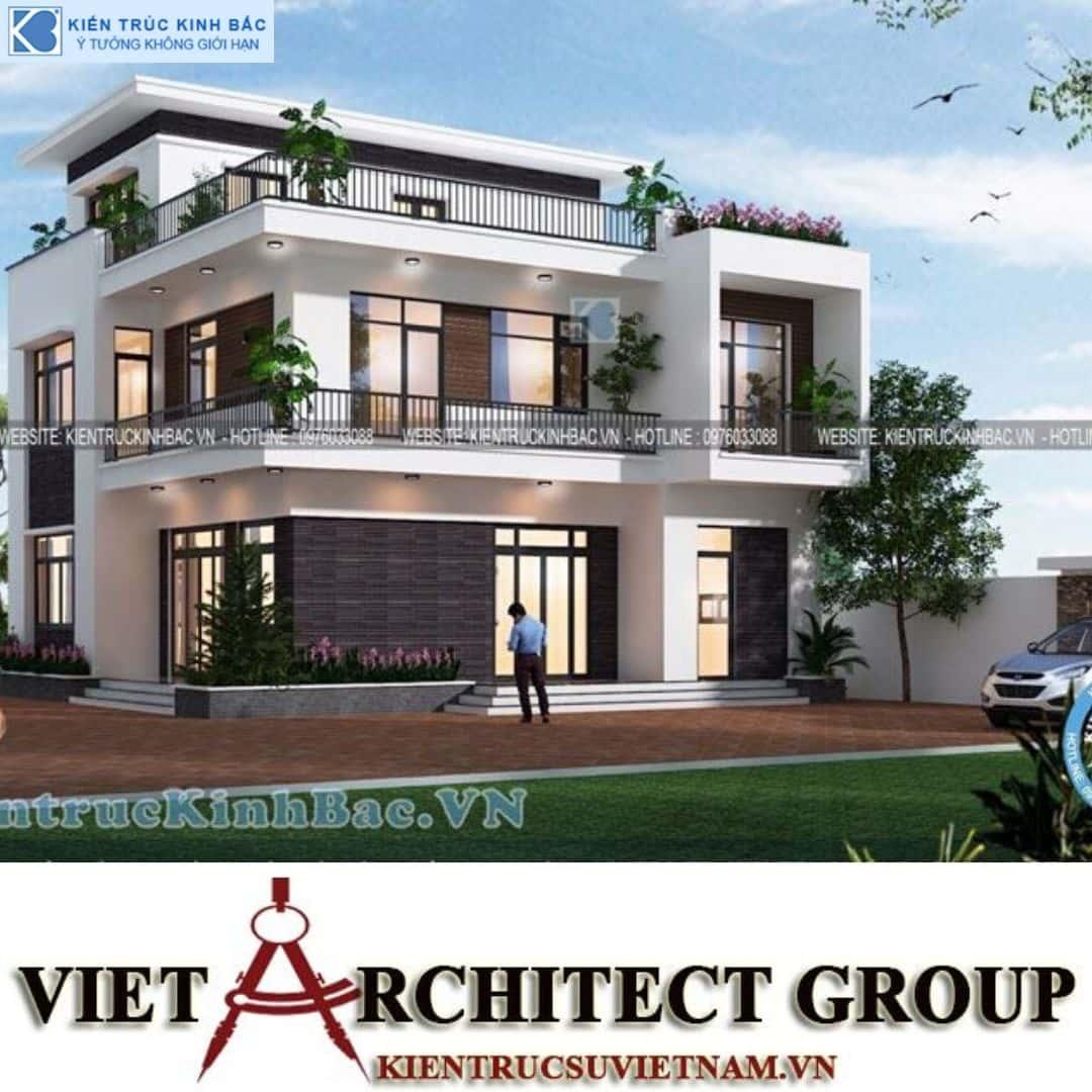 4 17 - Công trình Thiết kế biệt thự 3 tầng hiện đại anh Sơn - Bắc Giang