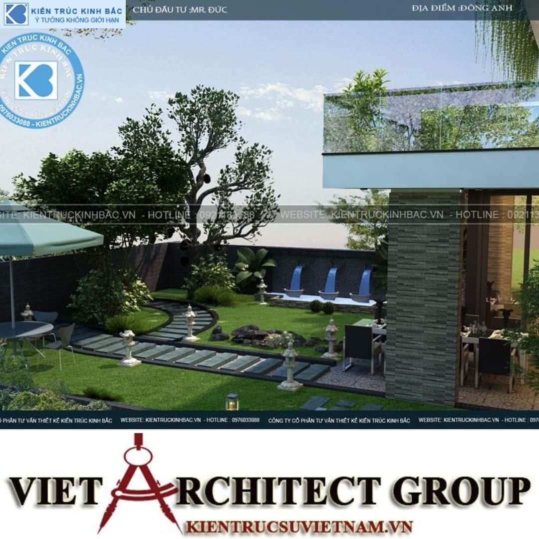 4 18 - Công trình thiết kế biệt thự 3 tầng hiện đại anh Đức - Hà Nội