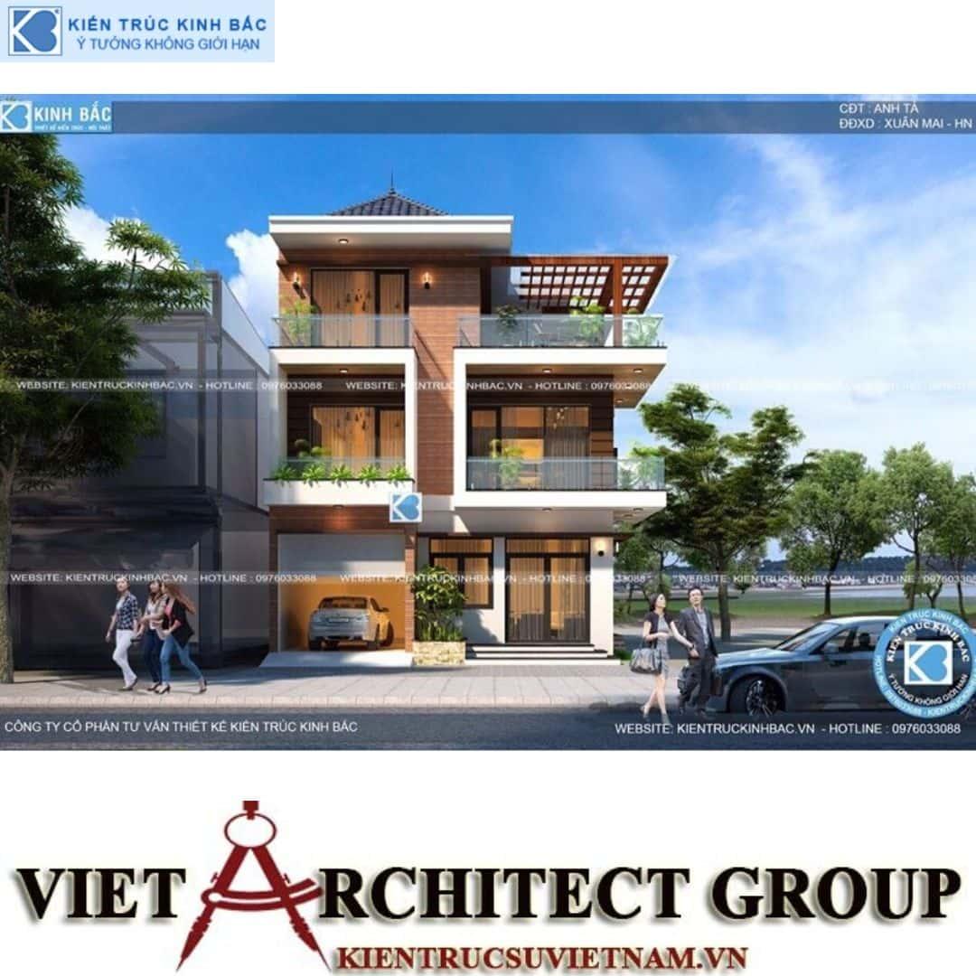 4 22 - Công trình thiết kế biệt thự 3 tầng hiện đại anh Tá - Hà Nội