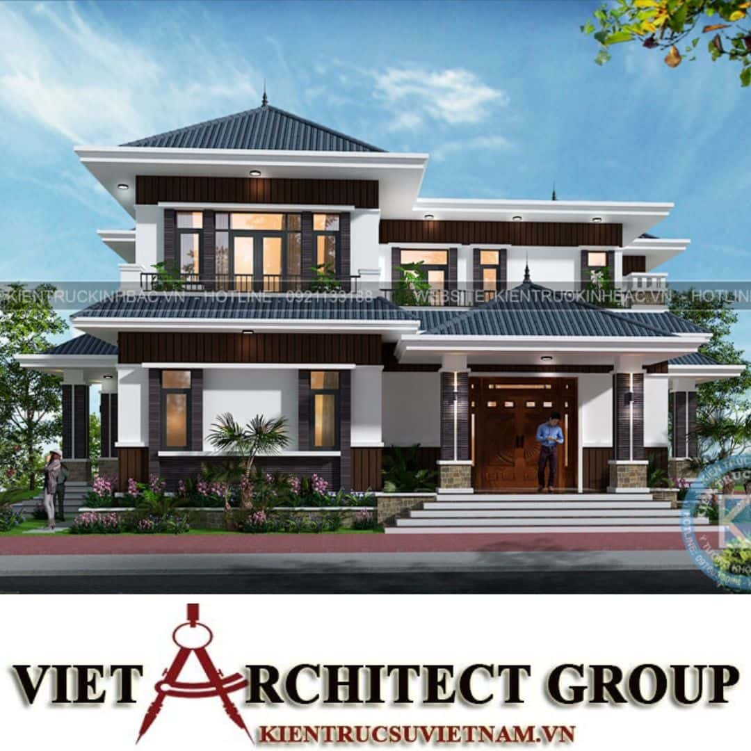 4 23 - Công trình thiết kế biệt thự 2 tầng hiện đại anh Chinh - Bắc Giang