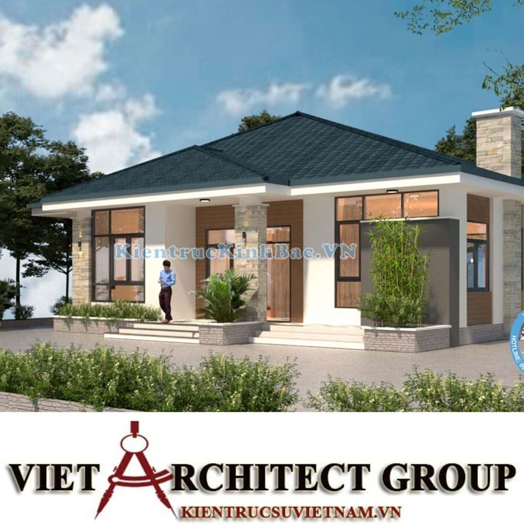 4 25 - Công trình thiết kế biệt thự 1 tầng tại anh Minh - Thái Bình