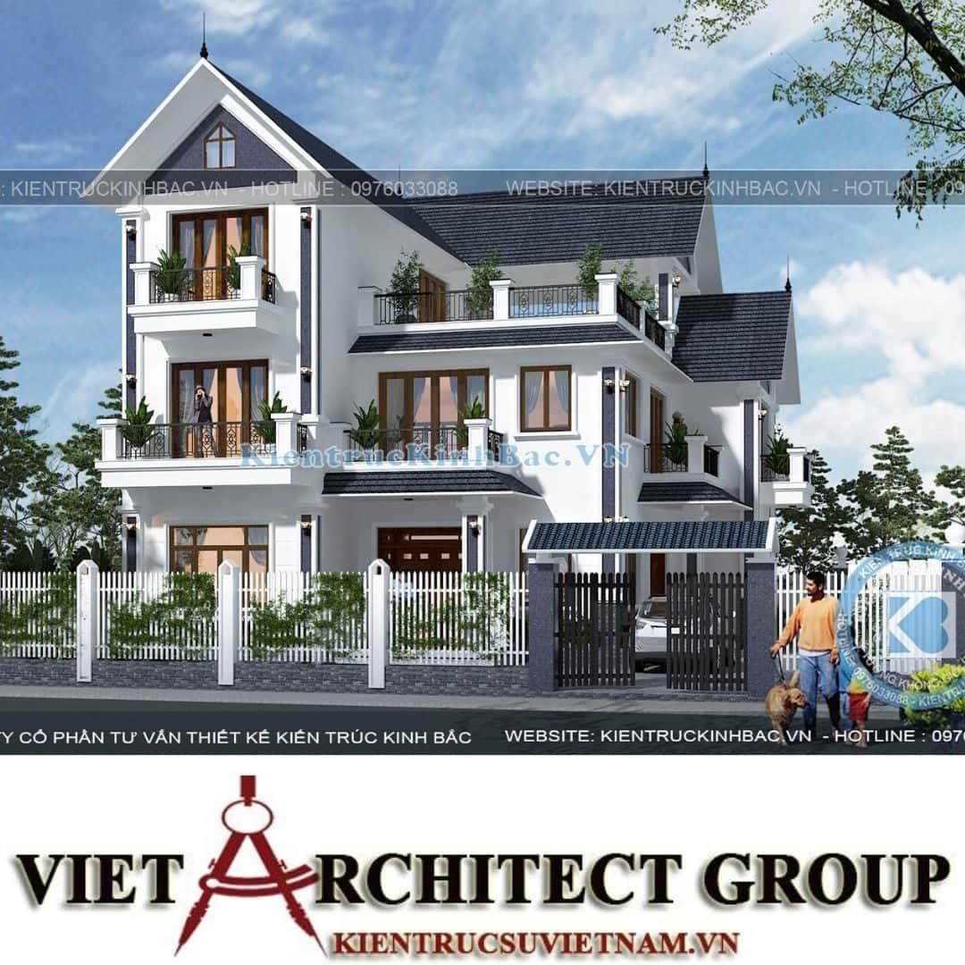 4 27 - Công trình thiết kế biệt thự tân cổ điển 3 tầng anh Sơn - Hà Nội