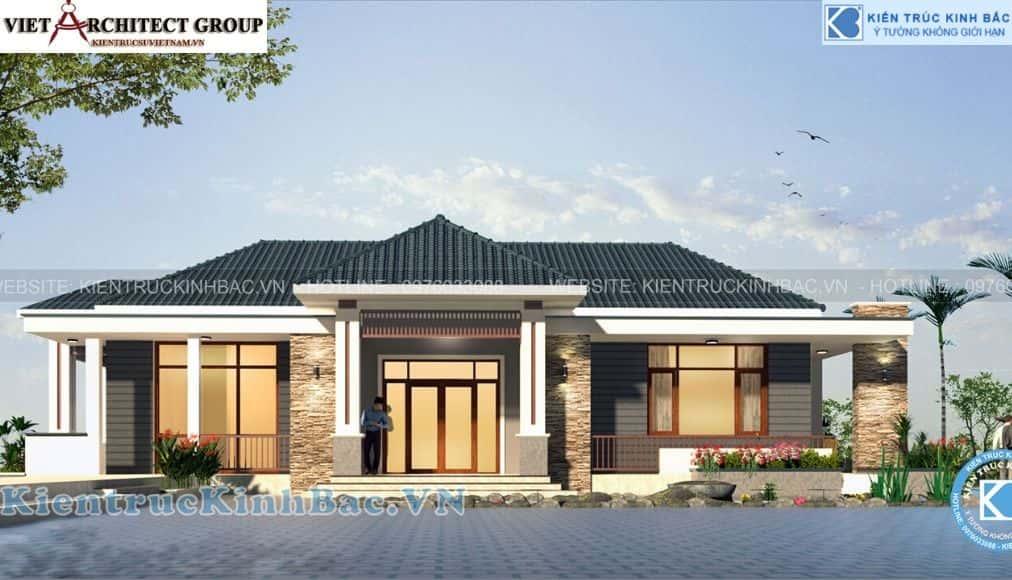 4 28 - Công trình thiết kế biệt thự 1 tầng anh Thịnh - Thái Nguyên
