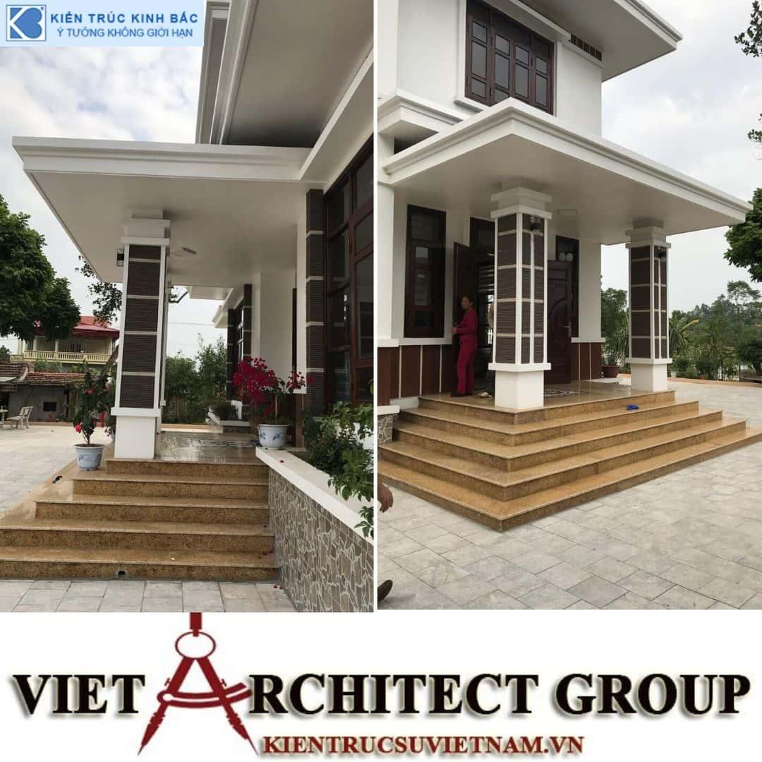 4 3 - Công trình thiết kế và thi công biệt thự 2 tầng sân vườn mái thái đẹp