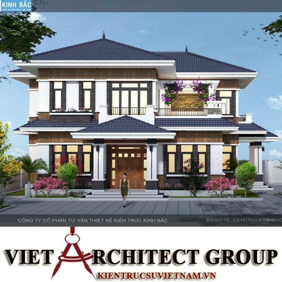 4 34 - Công trình biệt thự 2 tầng mái thái a Hương - Chương Mỹ, Hà Nội