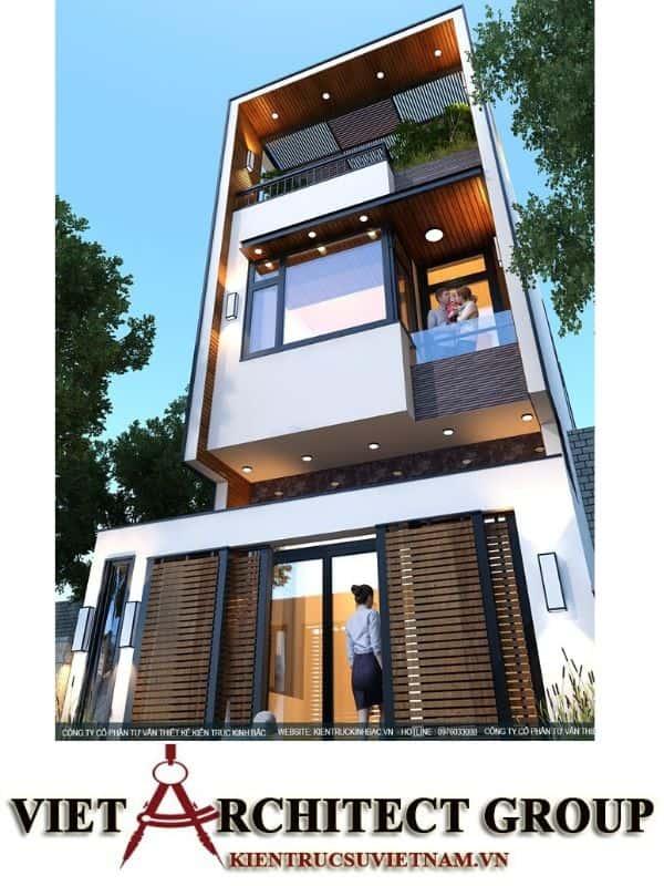 4 35 - Công trình nhà phố 3 tầng kiến trúc hiện đại anh Tập - Bắc Giang
