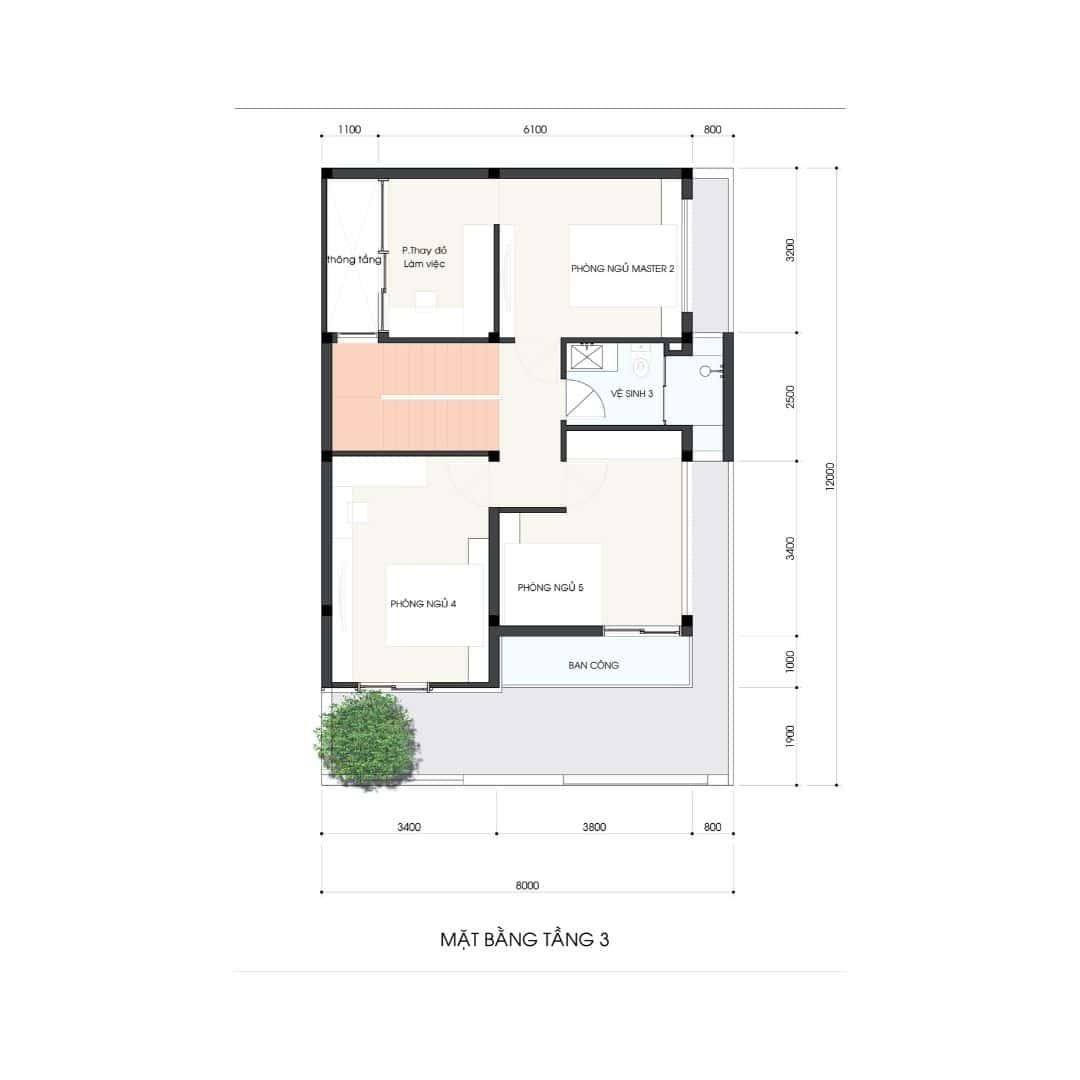 4 41 - Công trình thiết kế thi công nhà phố 3.5 tầng 65m2 Ms Lan Quận 9