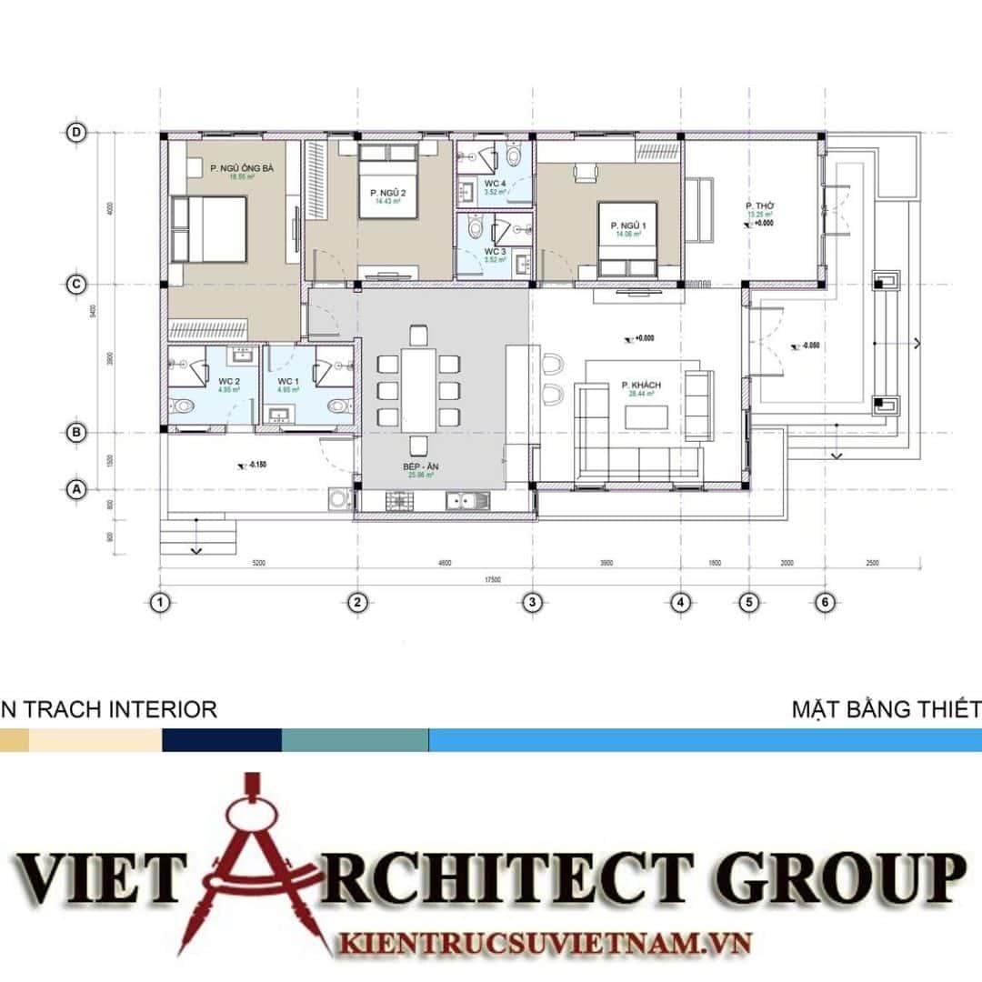 4 42 - Công trình nhà ở 1 tầng mái thái 3 phòng ngủ chị Dung - Nhơn Trạch, Đồng Nai
