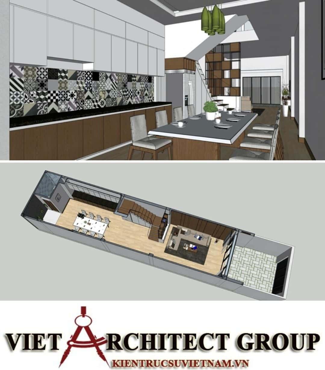4 44 - Công trình nhà ở 4 tầng mặt tiền 4.5m anh Tuấn - TPHCM