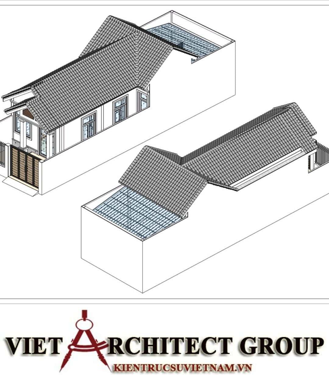 4 45 - Công trình nhà ở trệt mái thái diện tích 120m2 Mr Thi - Thủ Đức, TPHCM