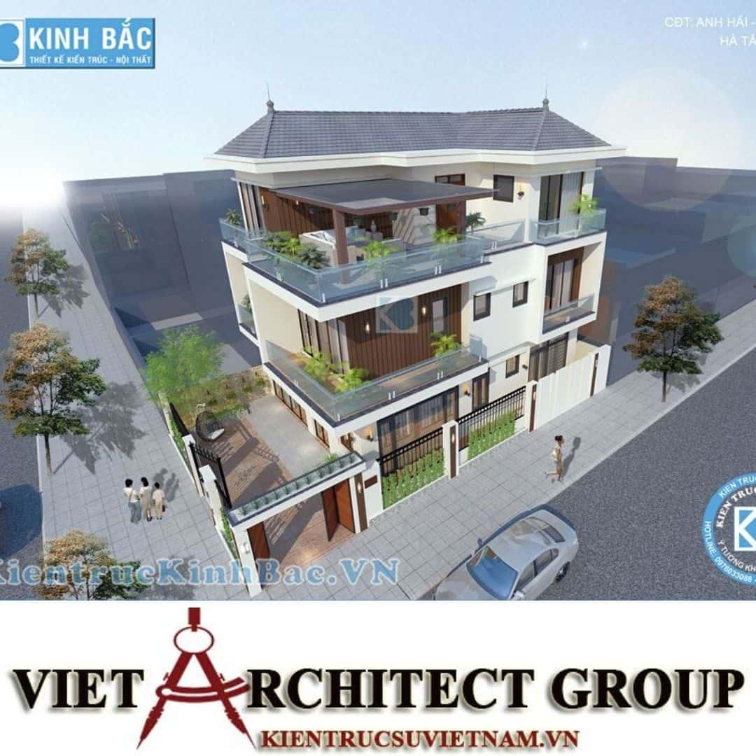 4 6 - Công trình biệt thự 3 tầng 2 mặt tiền hiện đại 300m2 ở Hoài Đức, Hà Nội