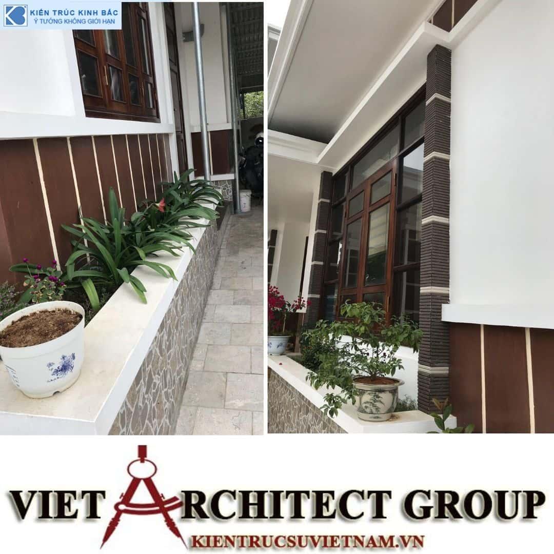 5 1 - Công trình thiết kế và thi công biệt thự 2 tầng sân vườn mái thái đẹp