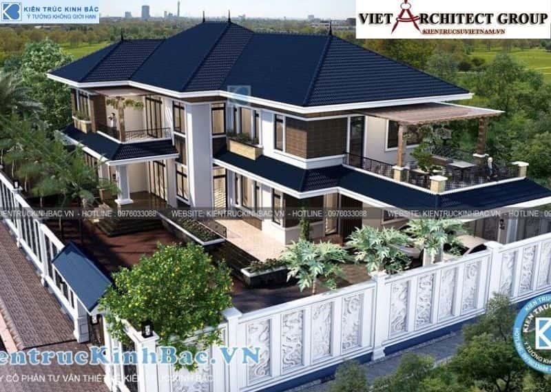 5 10 - Công trình thiết kế biệt thự 2 tầng mái thái anh Cảnh - Hoà Bình