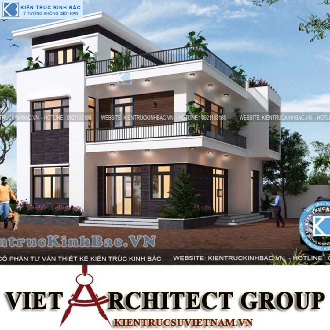 5 11 - Công trình Thiết kế biệt thự 3 tầng hiện đại anh Sơn - Bắc Giang