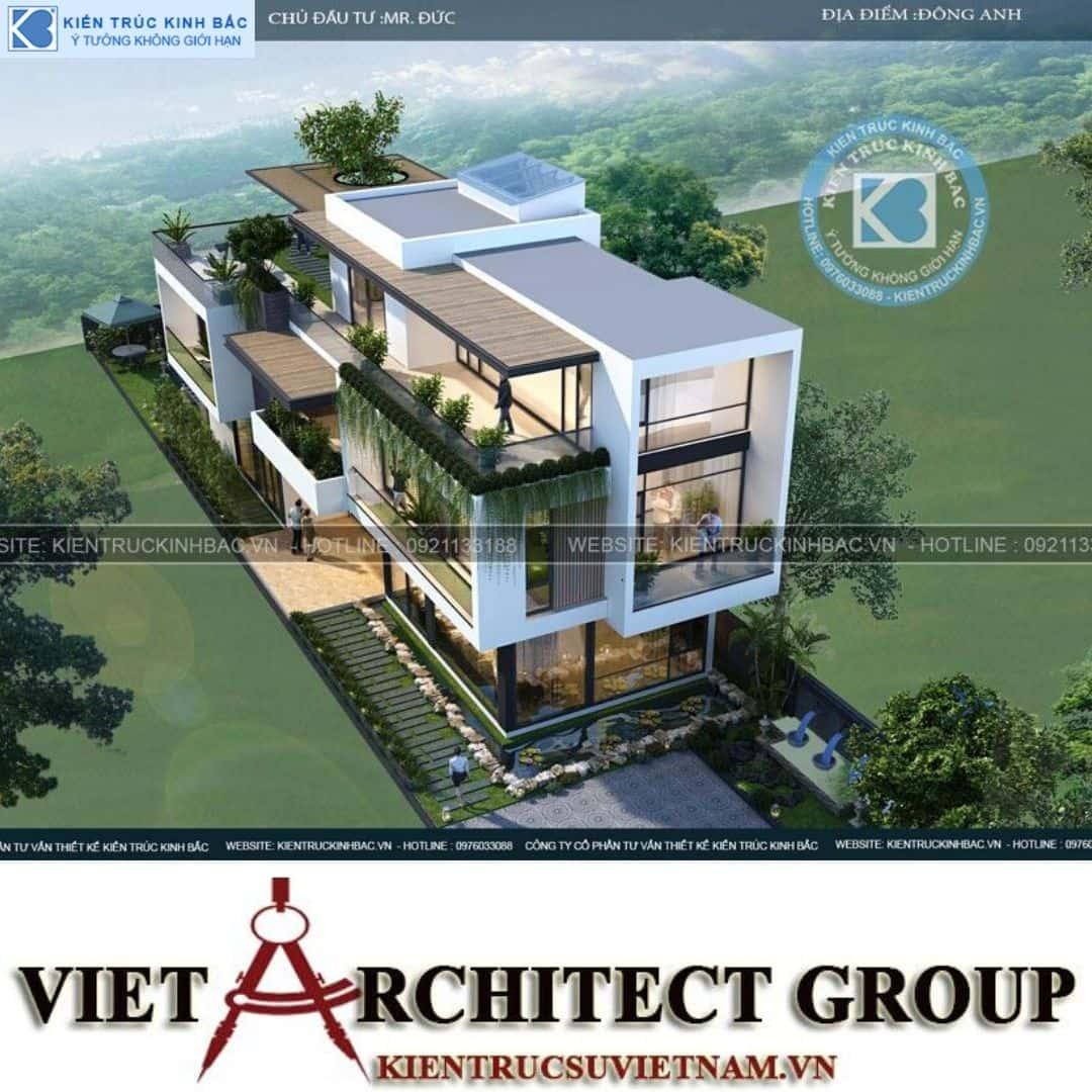 5 12 - Công trình thiết kế biệt thự 3 tầng hiện đại anh Đức - Hà Nội