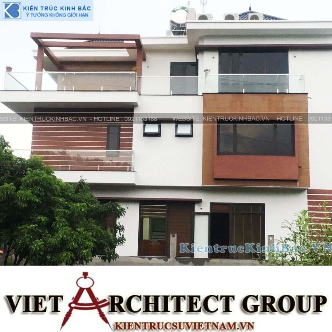 5 13 - Công trình thiết kế biệt thự 3 tầng hiện đại anh Tá - Hà Nội