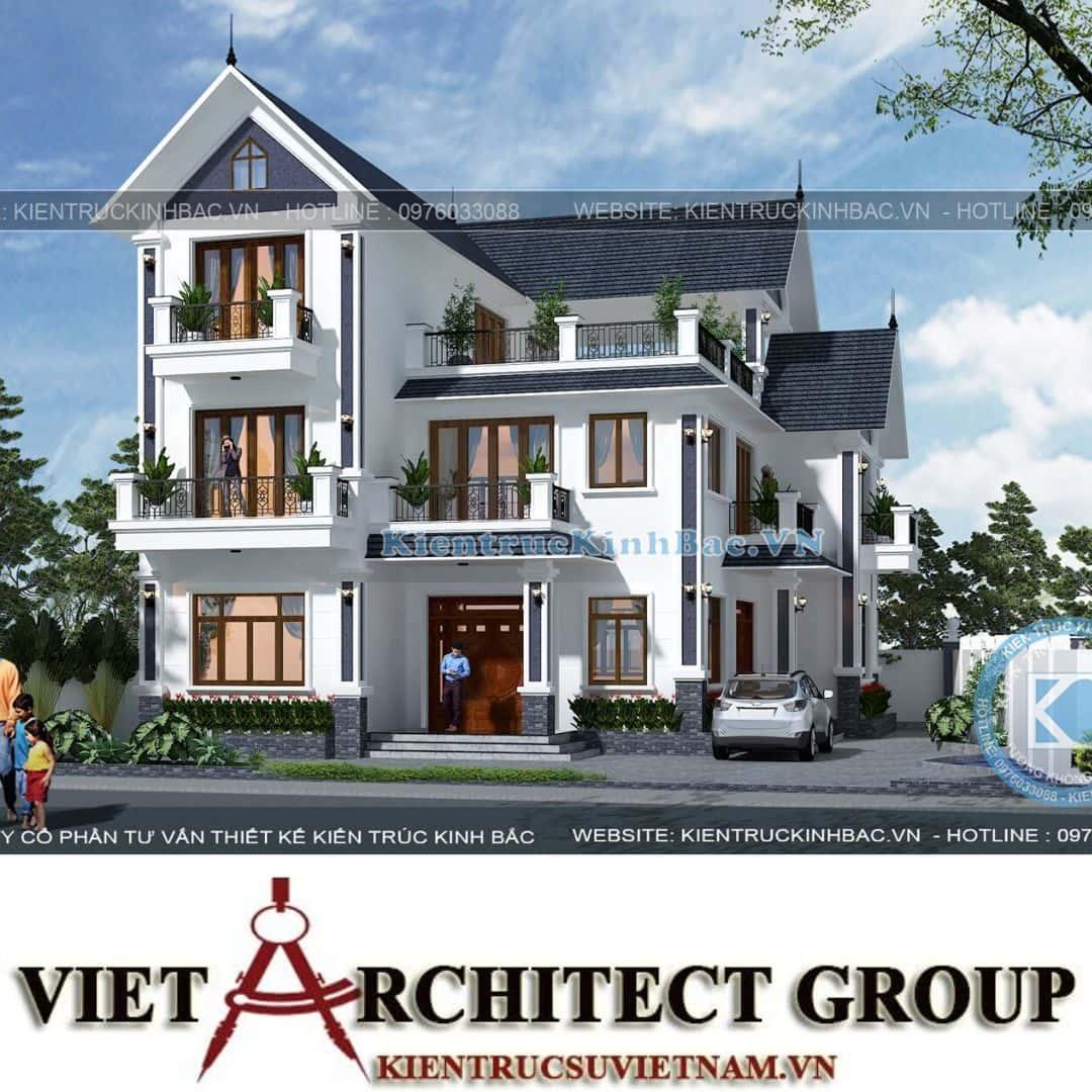5 16 - Công trình thiết kế biệt thự tân cổ điển 3 tầng anh Sơn - Hà Nội