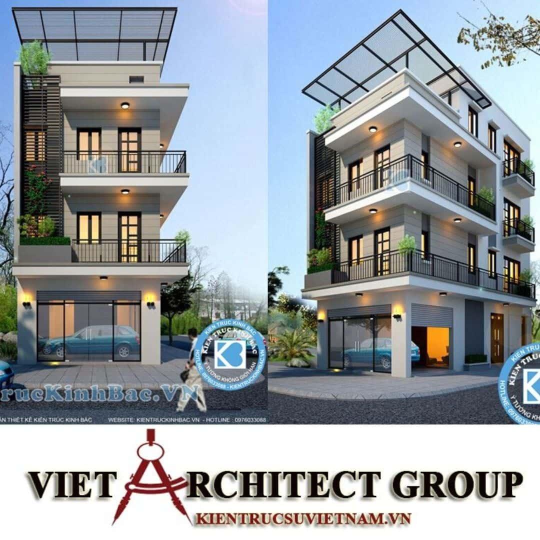 5 18 - Công trình nhà phố lô góc 2 mặt tiền 6m 4 tầng anh Hoàng - Sơn Tây