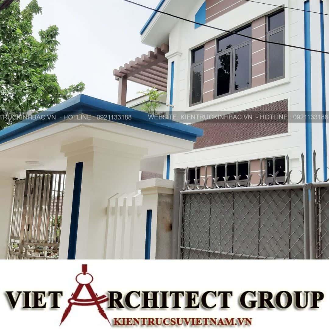 5 19 - Công trình thiết kế biệt thự 2 tầng mái thái anh Quý - Ninh Bình