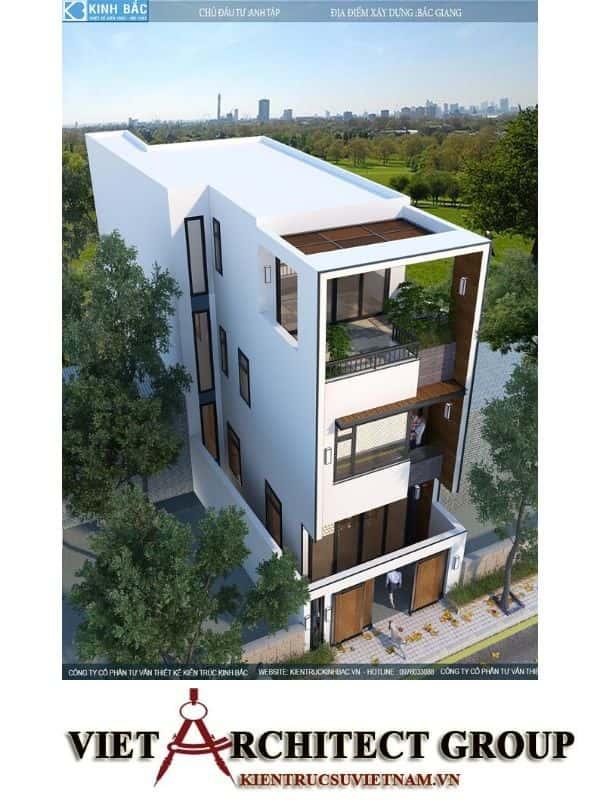 5 22 - Công trình nhà phố 3 tầng kiến trúc hiện đại anh Tập - Bắc Giang