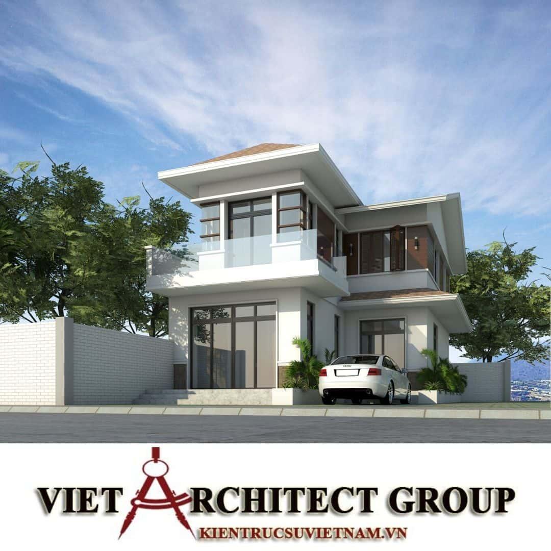 5 26 - Công trình biệt thự 2 tầng chữ L mái thái chị Vy - huyện Hóc Môn