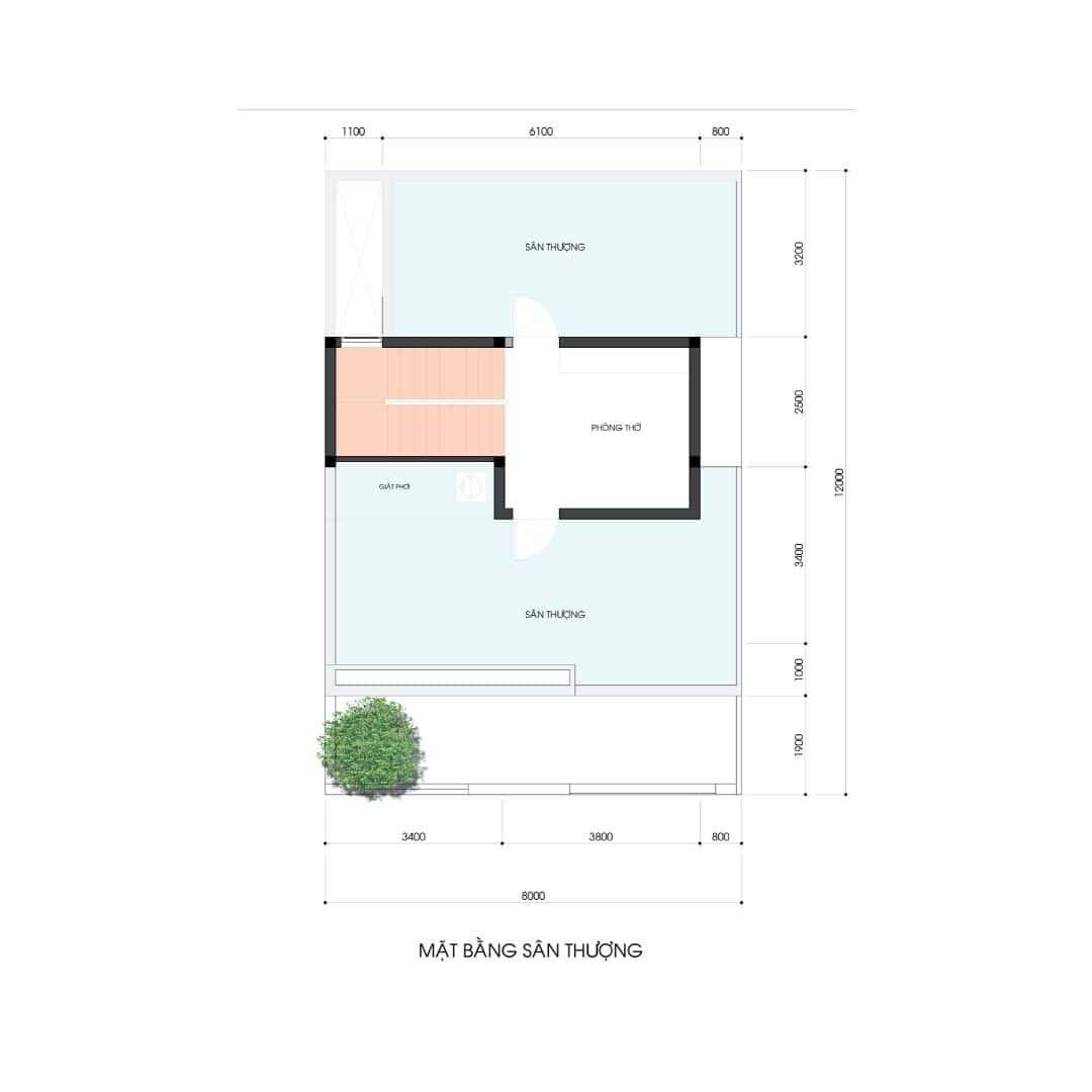 5 28 - Công trình thiết kế thi công nhà phố 3.5 tầng 65m2 Ms Lan Quận 9