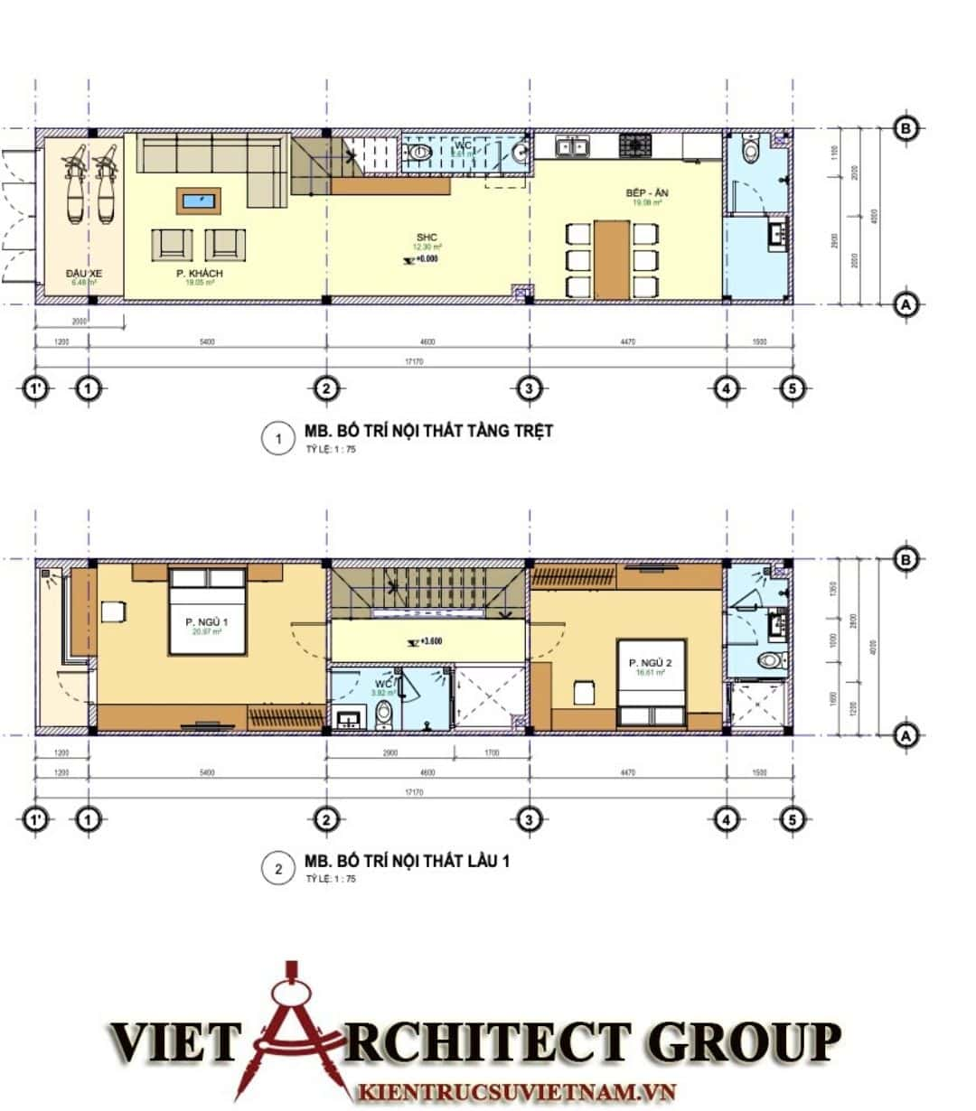 5 30 - Công trình nhà phố mặt tiền 4m 1 trệt 2 lầu sân thượng chị Hải - Thủ Đức