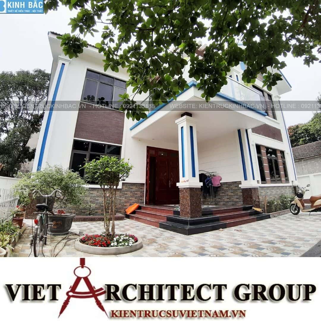 6 10 - Công trình thiết kế biệt thự 2 tầng mái thái anh Quý - Ninh Bình