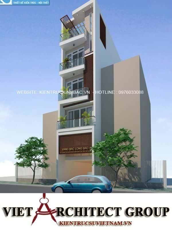 6 11 - Công trình thiết kế nhà ống 5 tầng anh Bắc - Hiệp Hoà, Bắc Giang