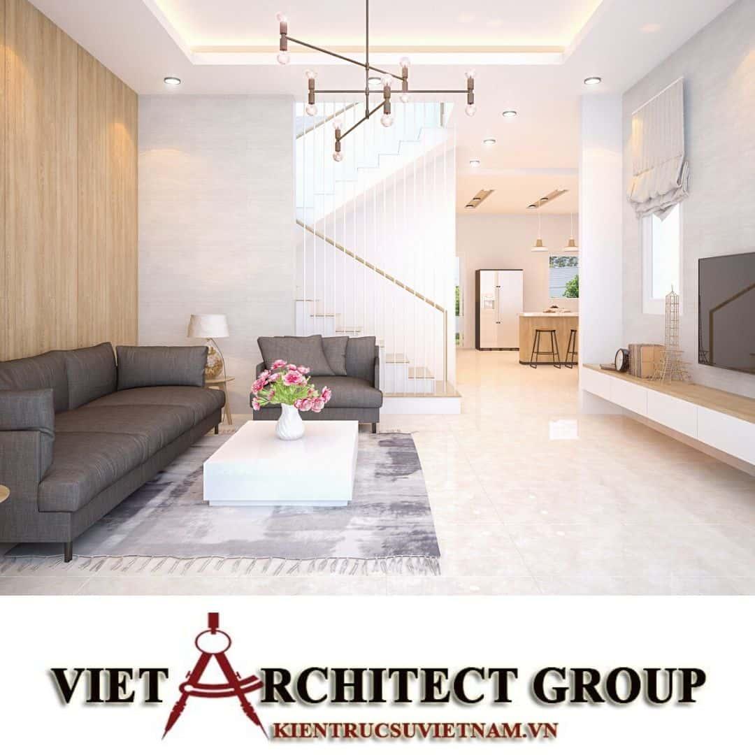 6 15 - Công trình biệt thự 2 tầng chữ L mái thái chị Vy - huyện Hóc Môn