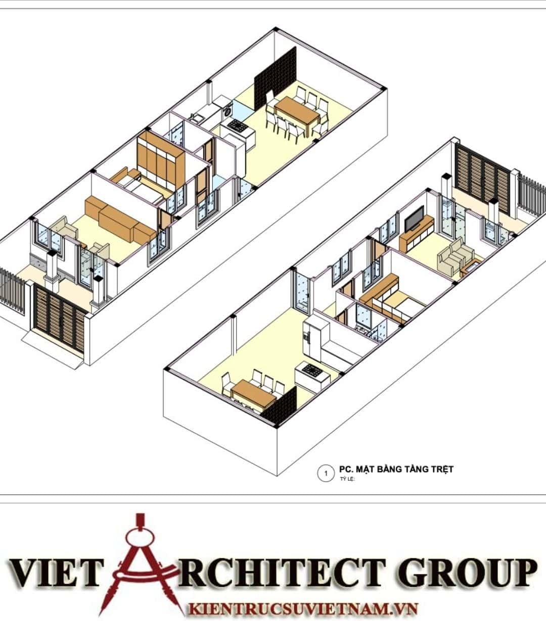 6 17 - Công trình nhà ở trệt mái thái diện tích 120m2 Mr Thi - Thủ Đức, TPHCM