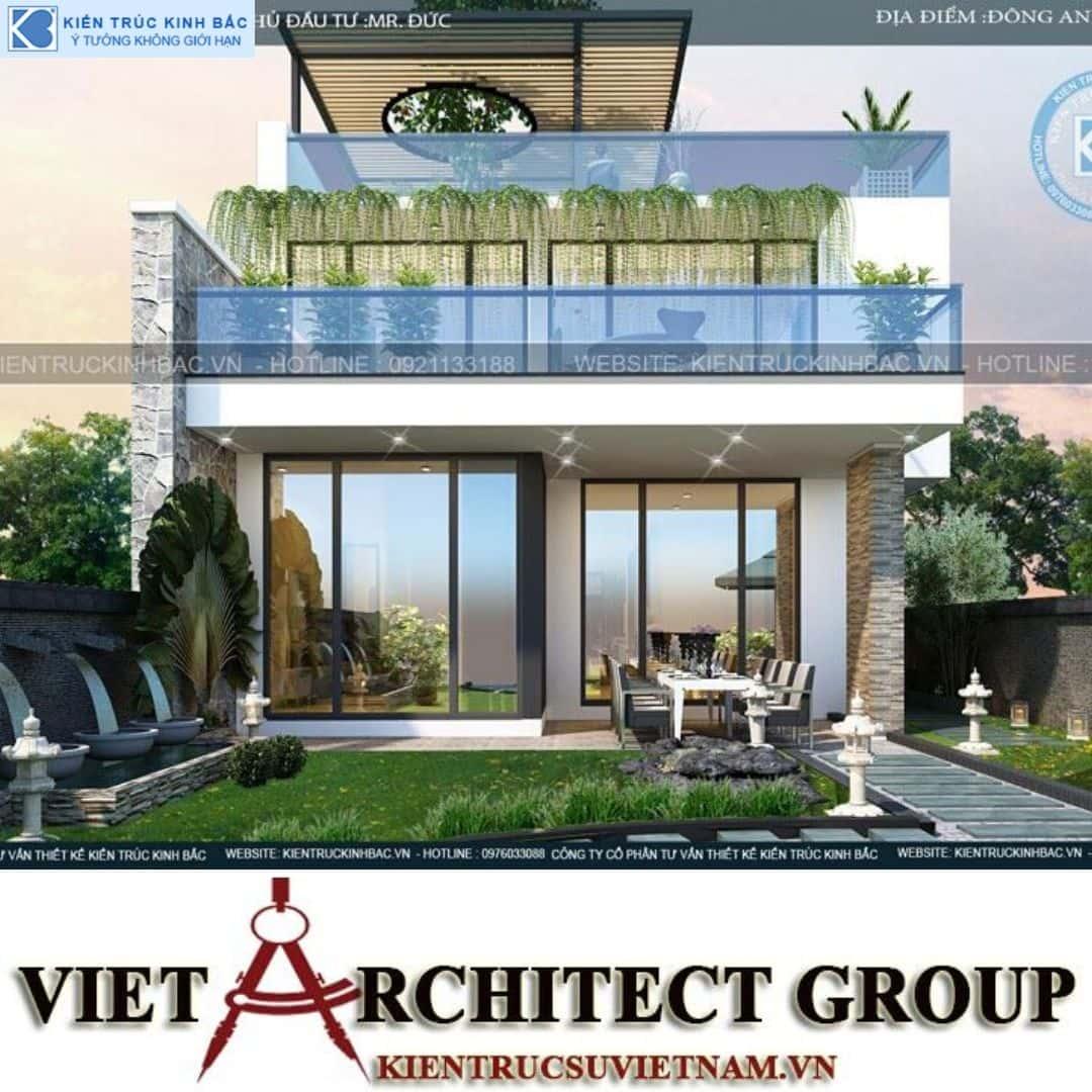 6 6 - Công trình thiết kế biệt thự 3 tầng hiện đại anh Đức - Hà Nội