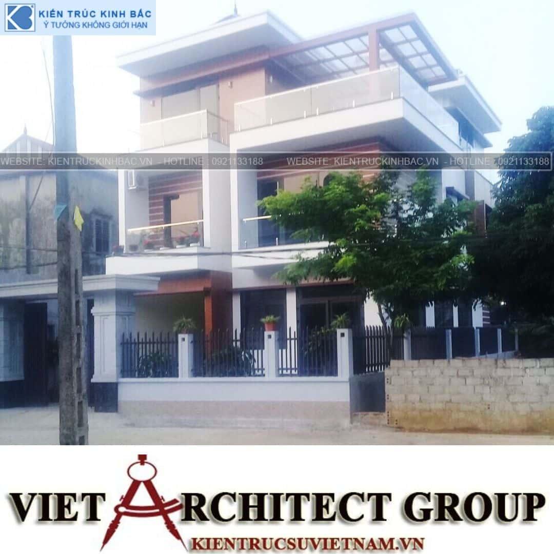 6 7 - Công trình thiết kế biệt thự 3 tầng hiện đại anh Tá - Hà Nội