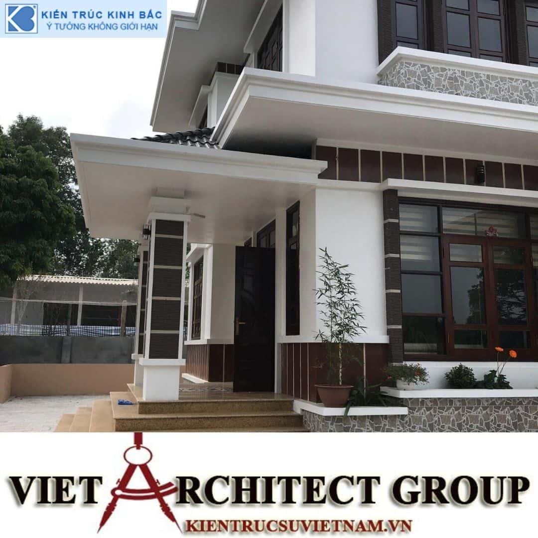 6 - Công trình thiết kế và thi công biệt thự 2 tầng sân vườn mái thái đẹp