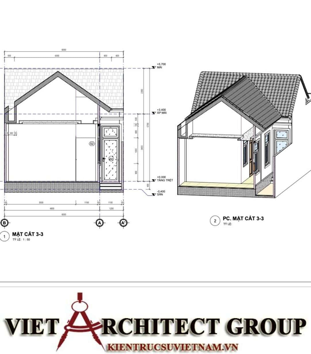 7 13 - Công trình nhà ở trệt mái thái diện tích 120m2 Mr Thi - Thủ Đức, TPHCM