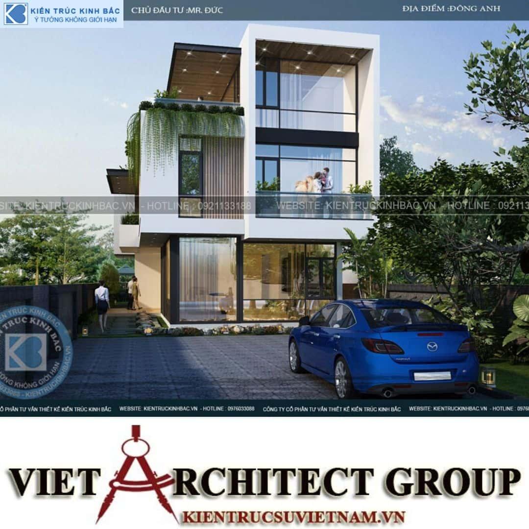 7 3 - Công trình thiết kế biệt thự 3 tầng hiện đại anh Đức - Hà Nội