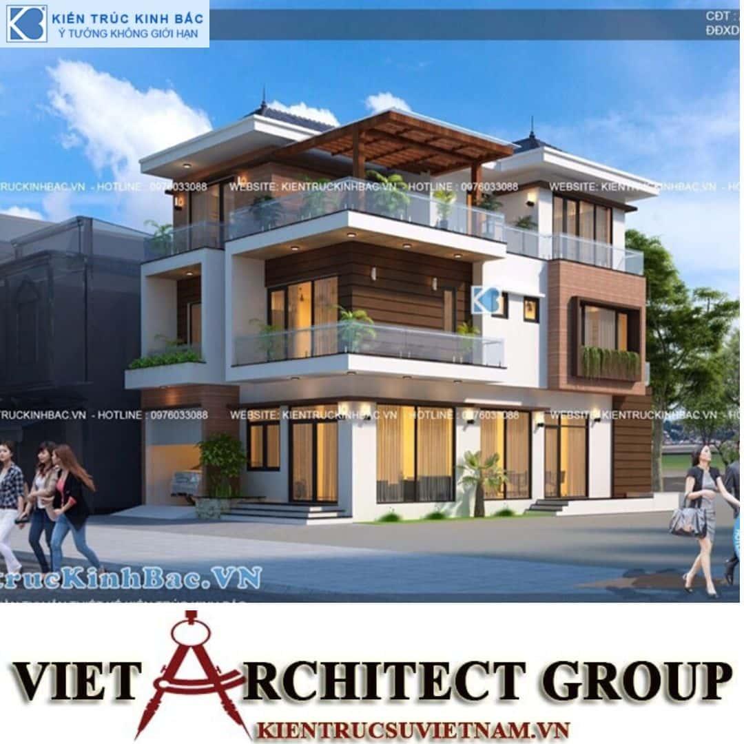 7 4 - Công trình thiết kế biệt thự 3 tầng hiện đại anh Tá - Hà Nội