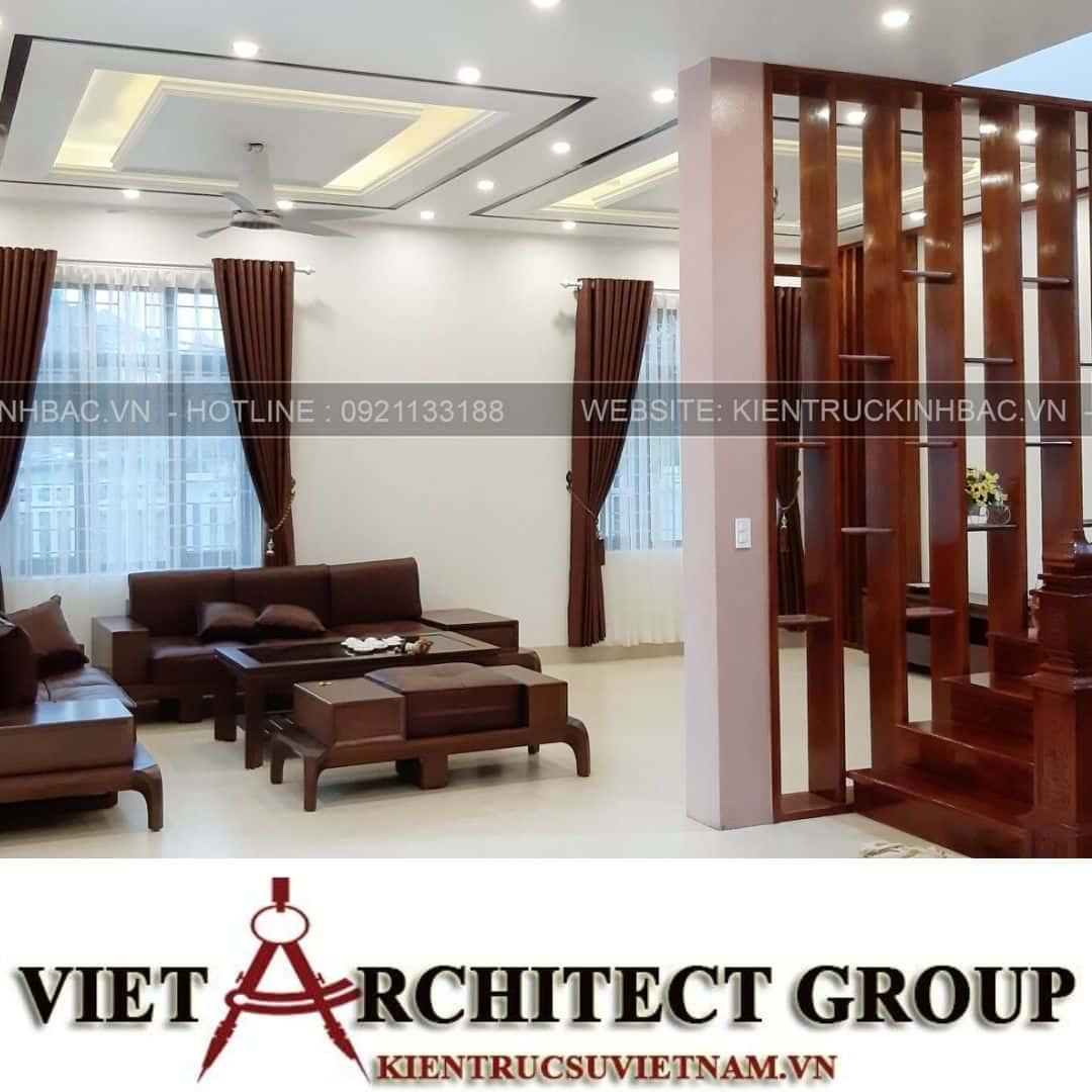 7 7 - Công trình thiết kế biệt thự 2 tầng mái thái anh Quý - Ninh Bình