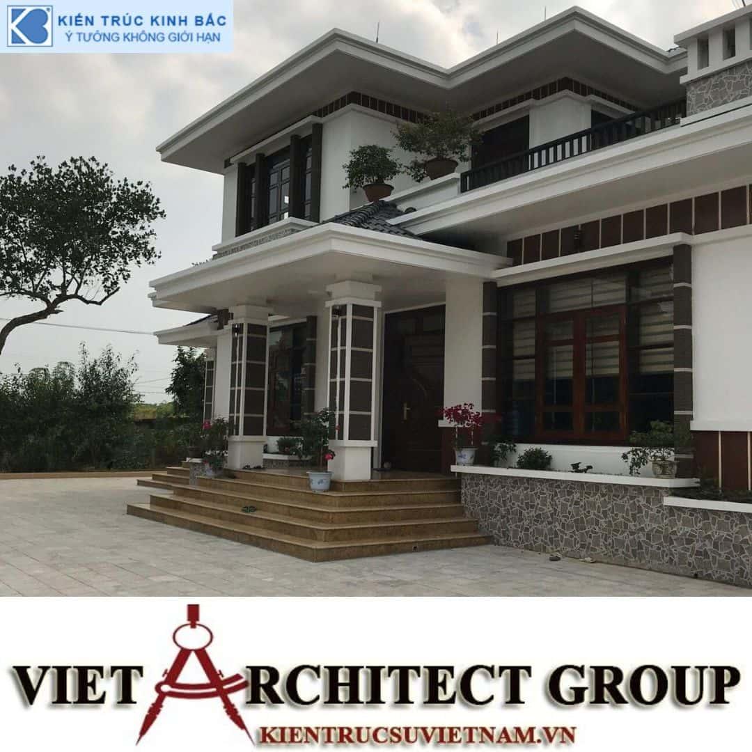 7 - Công trình thiết kế và thi công biệt thự 2 tầng sân vườn mái thái đẹp