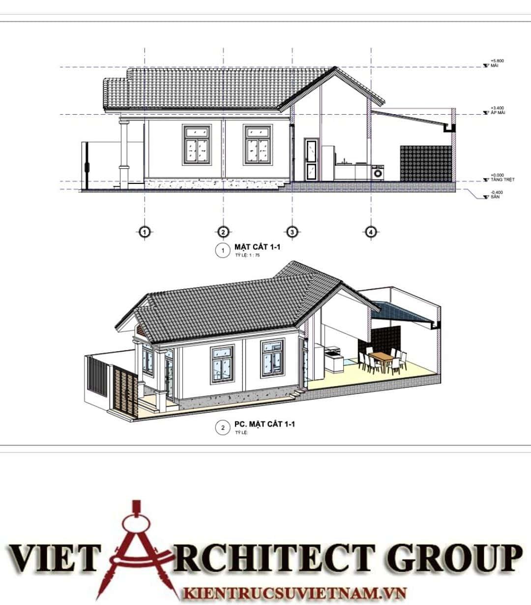 8 10 - Công trình nhà ở trệt mái thái diện tích 120m2 Mr Thi - Thủ Đức, TPHCM