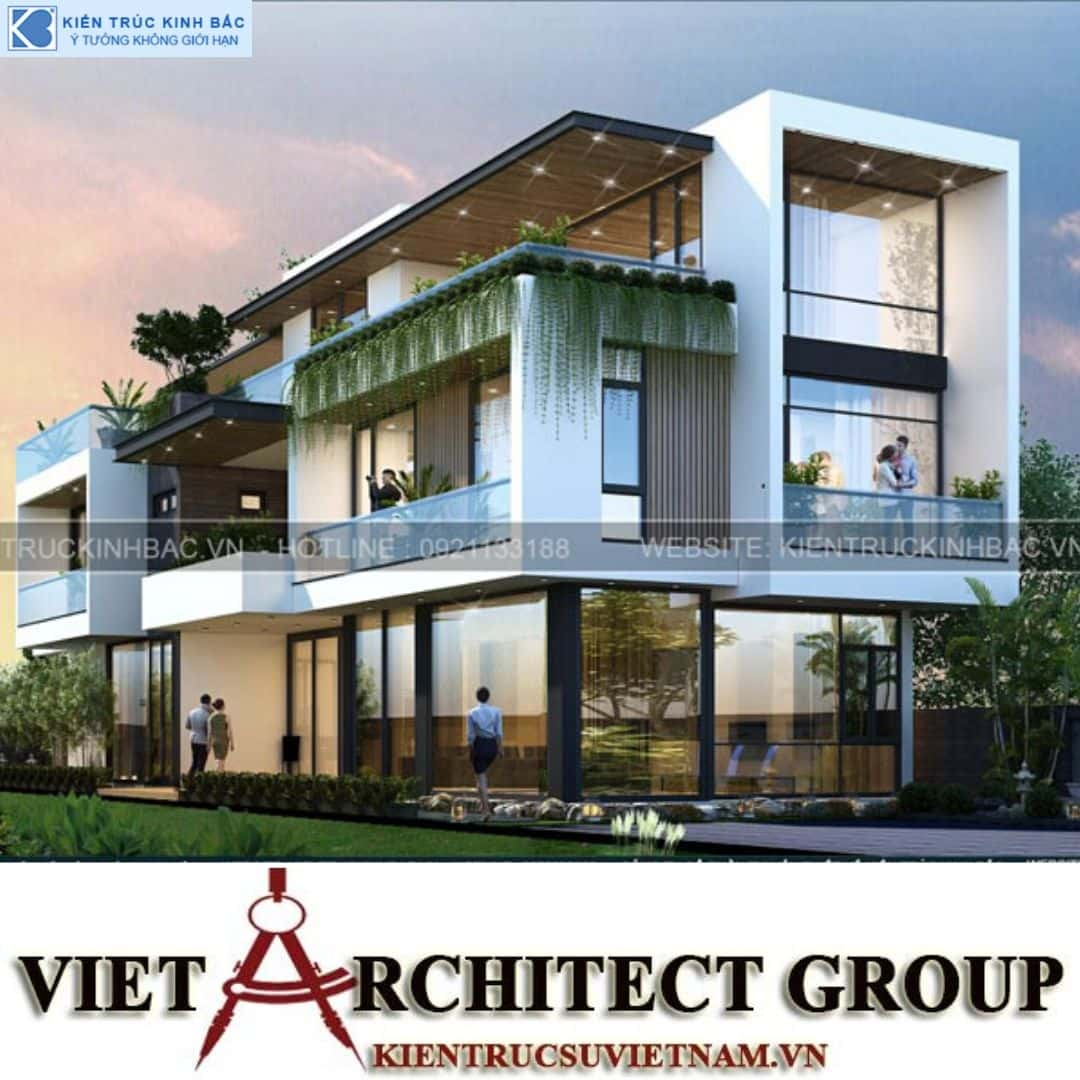 8 2 - Công trình thiết kế biệt thự 3 tầng hiện đại anh Đức - Hà Nội