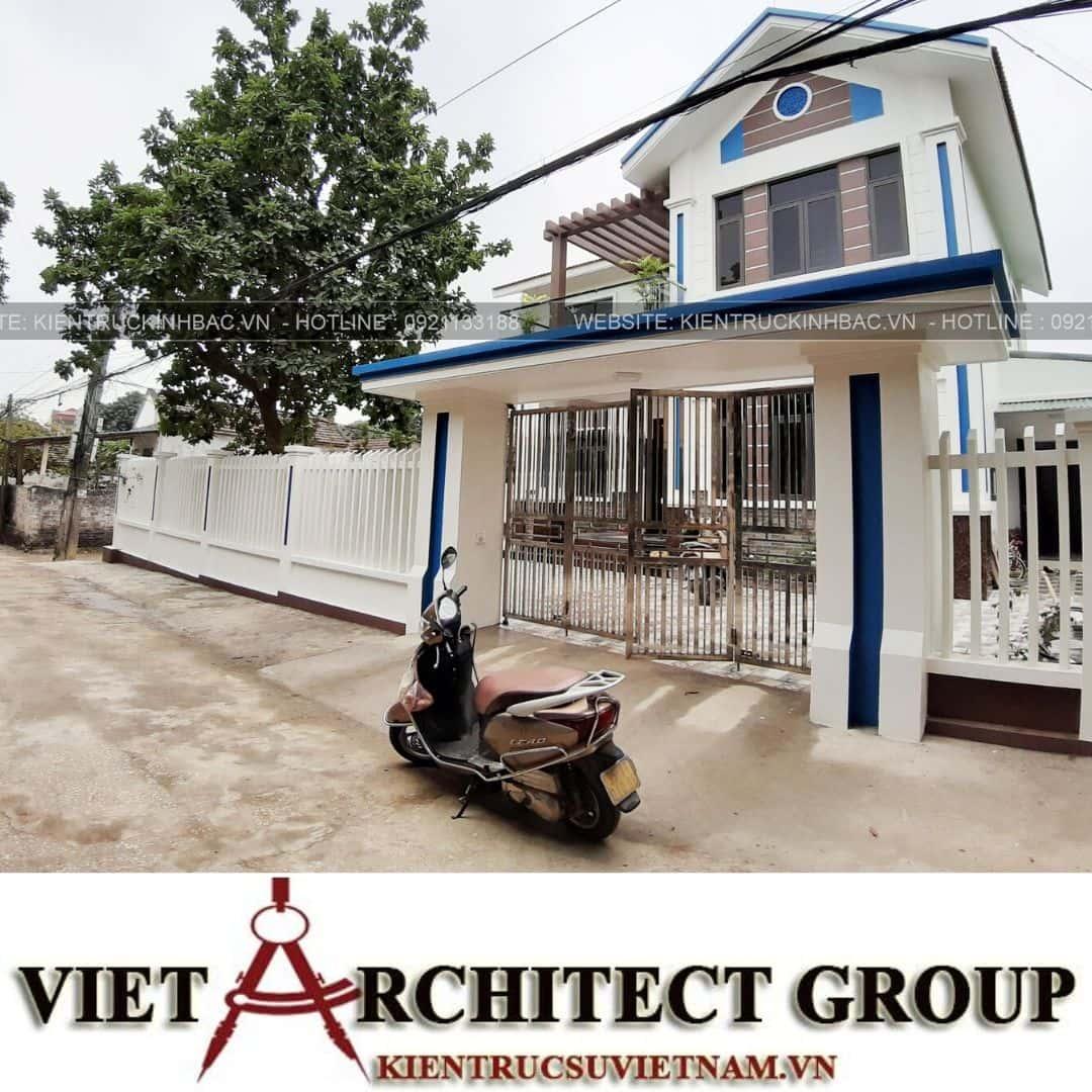 8 4 - Công trình thiết kế biệt thự 2 tầng mái thái anh Quý - Ninh Bình