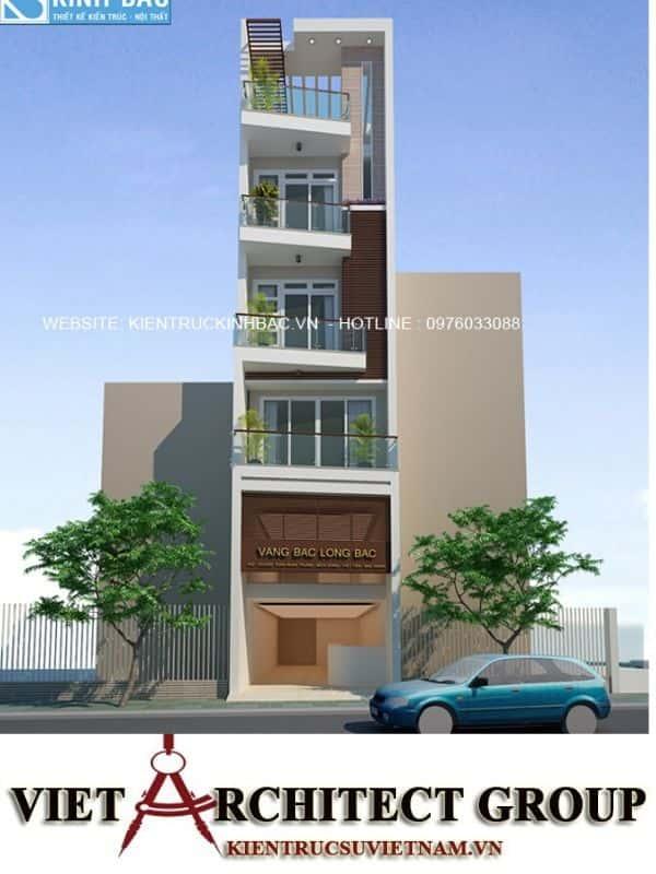 8 5 - Công trình thiết kế nhà ống 5 tầng anh Bắc - Hiệp Hoà, Bắc Giang