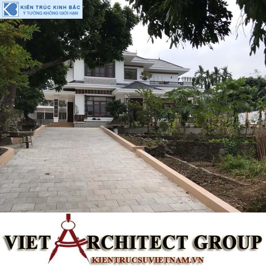 8 - Công trình thiết kế và thi công biệt thự 2 tầng sân vườn mái thái đẹp