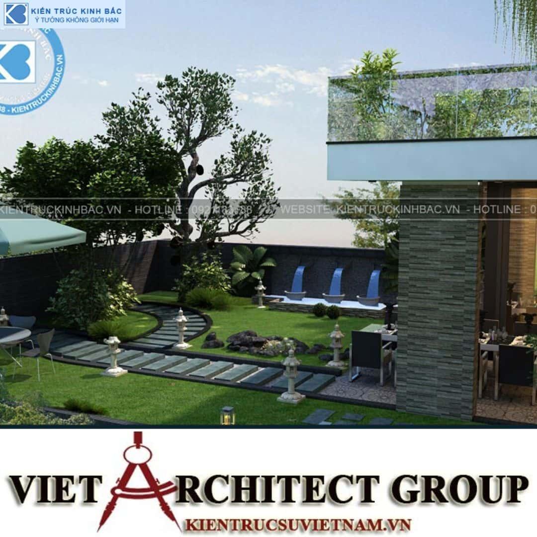 9 1 - Công trình thiết kế biệt thự 3 tầng hiện đại anh Đức - Hà Nội