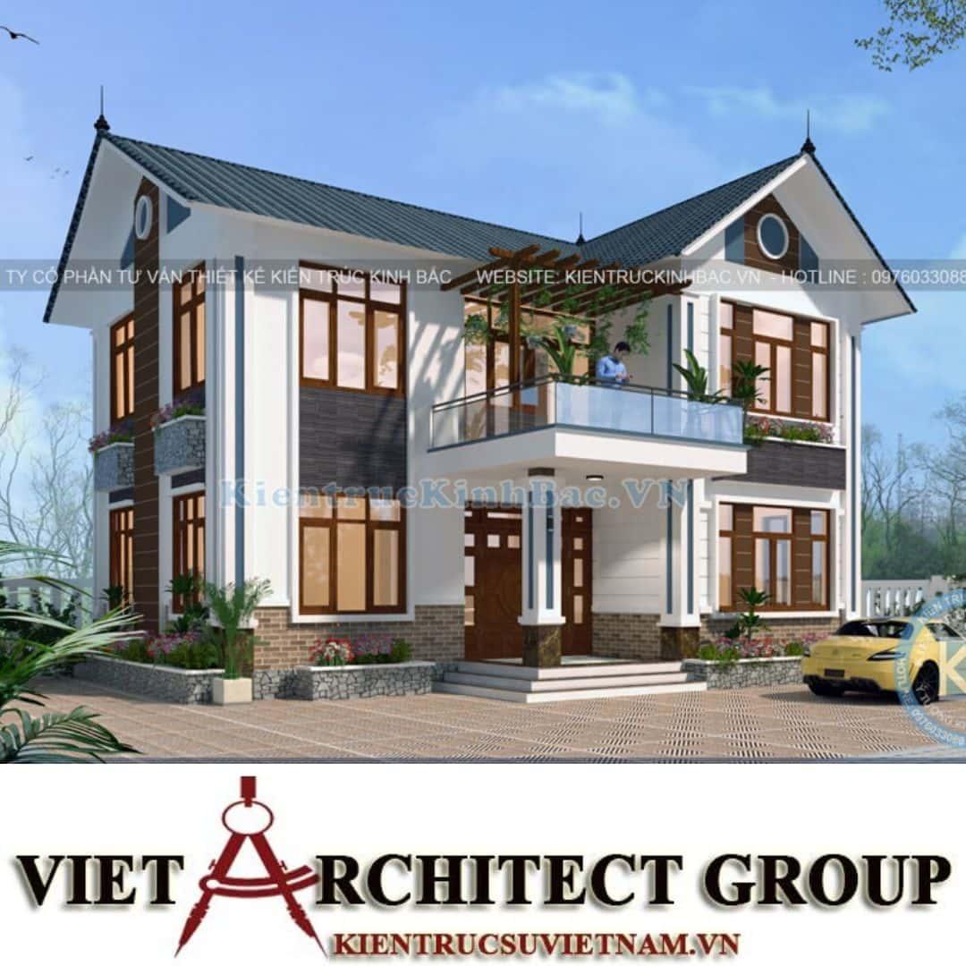 9 3 - Công trình thiết kế biệt thự 2 tầng mái thái anh Quý - Ninh Bình